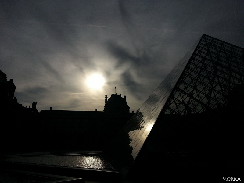 Sunrise at Le Louvre, Paris